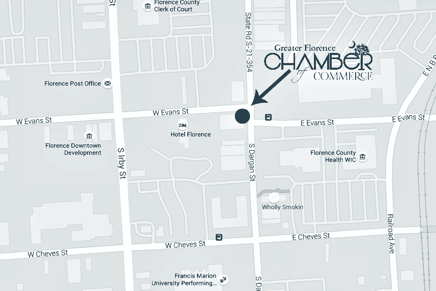Greater Florence Chamber Of Commerce Location Office Hours - Cant find us on map